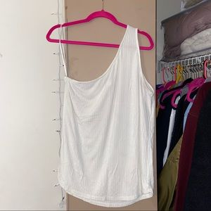 H&M ONE SHOULDER RIBBED TANK TOP